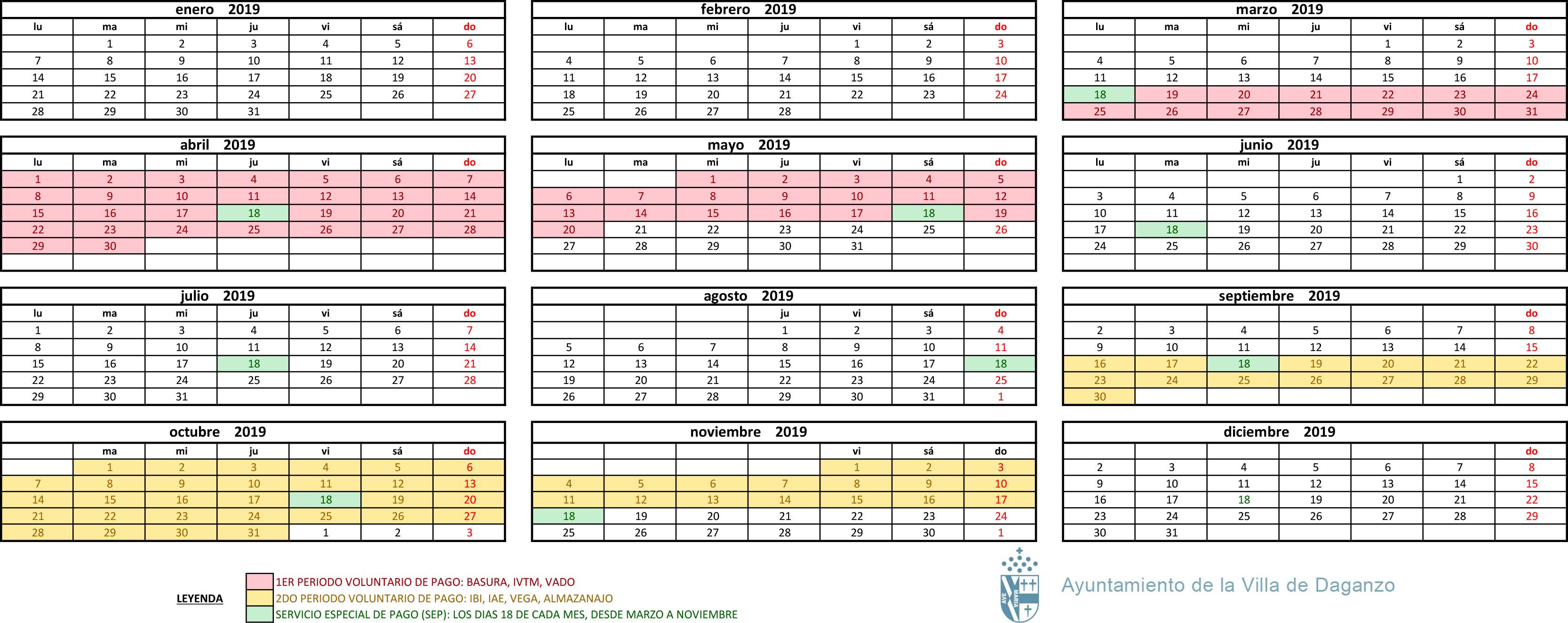 Calendario Fiscal.Calendarios Fiscal Y Laboral